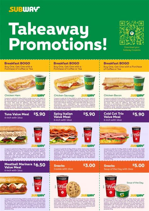 Subway S'pore releases Discount Coupons on Value Meals