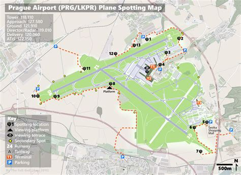 Plane Spotting Guide and Map for Prague Airport - 2019