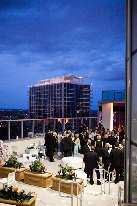 Chic rooftop wedding reception! Image courtesy of: James