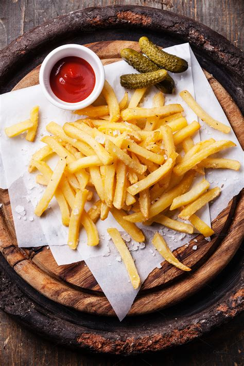 Salted french fries with ketchup ~ Food & Drink Photos on