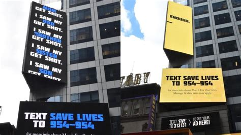 March For Our Lives launches 'Save Lives' billboard