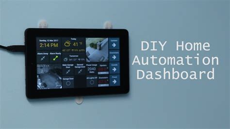 DIY Wall-Mounted Tablet Dashboard for OpenHAB using