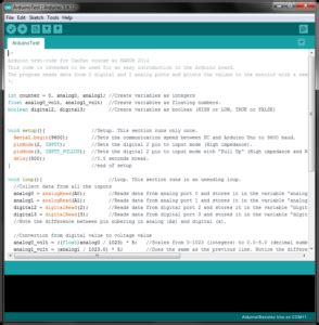 Software start up and test of Arduino Uno   NAROM