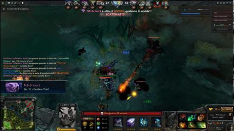 Dota 2 Faceless Void rampage and ultra-kill - YouTube